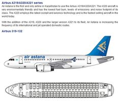 AIR ASTANA AIRLINES AIRBUS A319 AIRCRAFT SEATING CHART