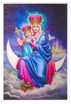 Indian Madonna and Child. This is another more modern representation of the classic painting. This picture has features that only are prominent in Indian culture, proving this very European idea traveled and many cultures incorporated their own beliefs into their own depictions.
