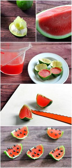 Watermelon Margarita Jelly Shots- the only way I want my watermelon from now on lol
