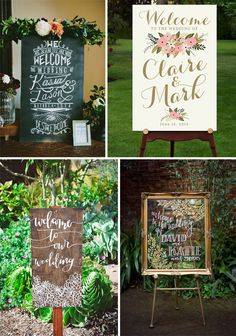 Ideas para dar la bienvenida a tus invitados. Cartel pizarra