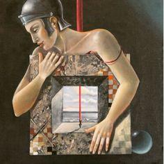 """""""Ritratto di G"""" 2004 50x50"""