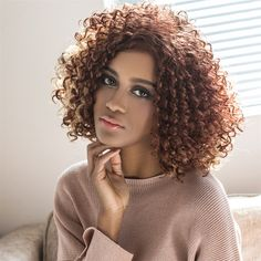 $14.89 Shaggy Medium Highlight Curly Side Parting Synthetic Wig