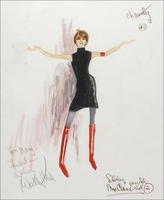 The Academy — Drawings of some of the costumes Edith Head...