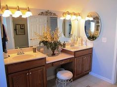 double vanity with makeup area | double vanity with makeup area