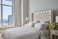 A neutral palette of classic pieces makes this guest room appropriate for all tastes.