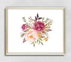 Flower Wall, Flower Prints, Wall Art Decor, Wall Art Prints, Office Wall Art, Day Lilies, Botanical Prints, Poster Wall, Flower Decorations