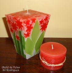 VELAS ARTESANAIS DECORATIVAS E AROMATIZADAS Best Candles, Diy Candles, Pillar Candles, Diy Candle Diffuser, 2 Advent, Candle Art, Candle Accessories, Homemade Candles, Diy Crafts