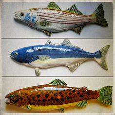 Bob Brocken's Pisces Ceramics (Fishing Art)