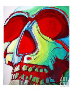 Skull Giclee Print by Megan Aroon Duncanson at Art.com