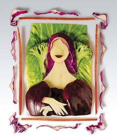Vegetable art from Magimix ad by Shalmor Avnon Amichay/YR Interactive