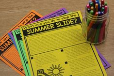 Summer Learning Mats (Summer Slide Freebie)