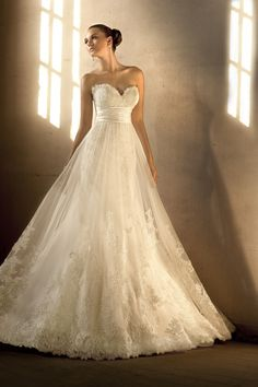 Essence of Australia- D1266 Lace gown with Dolce satin accent
