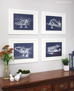 Free sketch airplane printables