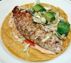 baked talapia fish tacos - I've never thought I would like fish tacos - but maybe I'll try these.