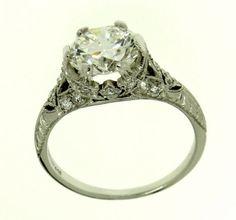 Vintage Tiffany Art Deco Platinum & Diamond Engagement Ring from artisansalcove on Ruby Lane