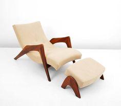 La chaise lounge et ottoman par Adrian persall conçu et fabriqué par craft associates in the early 1960 ' s. Photo : Palm Beach, les ventes aux enchères via mcmdaily moderne. Com