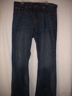 "Banana Republic Size 38 X 30"" Inseam Boot Cut Medium Wash Cotton Mens Jeans #BananaRepublic #BootCut"