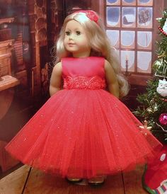 Red Special Occasion Dress with Matching by MyGirlClothingCo