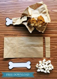 Turkey Leg Popcorn Snack for your class with directions and free printable.
