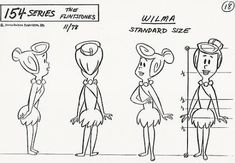 I received a bunch of model sheets from Hanna-Barbera in the and these feature the Flintstones from a 1978 series. Hanna Barbera, Cartoon Sketches, Cartoon Styles, Cartoon Art, Character Model Sheet, Character Modeling, Candy Drawing, Character Turnaround, Wilma Flintstone
