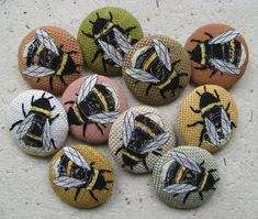 agnesandcora ...bee brooches