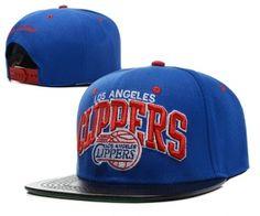 dede4eedcb7 Casquette NBA Los Angeles Clippers Snapback Bleu Noir Casquette New Era Pas  Cher