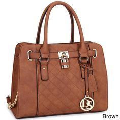 3d22629238d Dasein Medium Satchel Handbag with Shoulder Strap