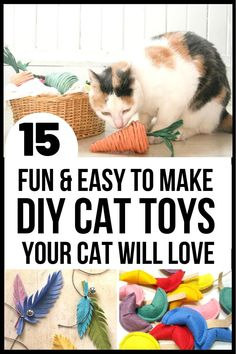 15 fun and easy to make DIY cat toys that your feline will love!