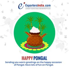 Sending you warm greetings on the happy occasion of Pongal. Have lots of fun on Pongal - Happy Pongal, Trending Topics, Warm, Fun, Lol, Funny