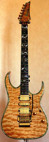 IBANEZ J-Custom HRG2000 with golden brown rippled KOA wood - cSw