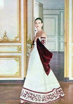 Anne St. Marie, photo by Henry Clarke at Versailles, Vogue 1955