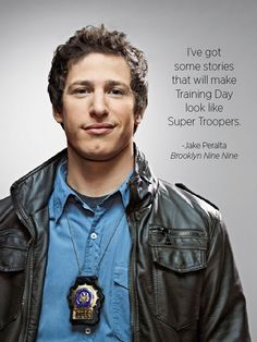Pretty much my soulmate. Best Tv Shows, Favorite Tv Shows, Movies And Tv Shows, Super Troopers, Jake Peralta, Andy Samberg, Brooklyn Nine Nine, Tv Show Quotes, Training Day