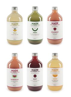 Made cold pressed juice