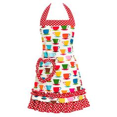 Teacup Apron Red, 35€, now featured on Fab.