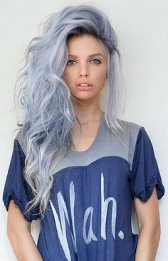grey blue hair color 2016