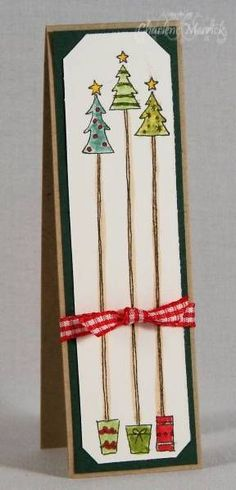 Christmas Scrap-Ling Bookmark CKM by LilLuvsStampin - Cards and Paper Craf. - Christmas Scrap-Ling Bookmark CKM by LilLuvsStampin – Cards and Paper Crafts at Splitcoasts - Homemade Christmas Cards, Christmas Cards To Make, Christmas Gift Tags, Christmas Art, Homemade Cards, Handmade Christmas, Holiday Cards, Homemade Gifts, Watercolor Christmas Cards