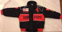 Driver Replica FERRARI Boys XS 4 5 Black Red Jacket Coat Race Track Racing Car Horse Driver #Ferrari #BasicJacket #EverydayDressyHoliday