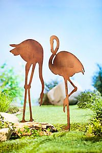 "Gartenstecker ""Flamingo"" 2er-Set Flamingo, Statue, Animals, Ebay, Environment, Patio, Weather Vanes, Home And Garden, Plants"
