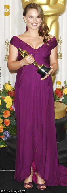 A pregnant Natalie Portman was resplendent in purple Rodarte in 2011 when she picked up her Oscar for Black Swan.