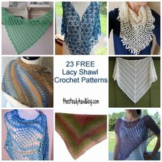 Embrace the asymmetrical, lacy romance found in these lacy shawl crochet patterns.   STOP searching and START making.