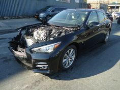 Salvage 2014 INFINITI Q50 PREMIUM    THIS IS A SALVAGE REPAIRABLE VEHICLE WITH FRONT END DAMAGE.HAS LEATHER INTERIOR , NAVIGATION SYSTEM , SUNROOF , RUNS AND DRIVES. For more information and immediate assistance, please call +1-718-991-8888