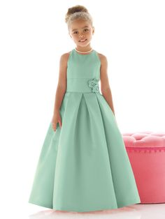 Dessy - Mint Flower Girl Dress - FL4022