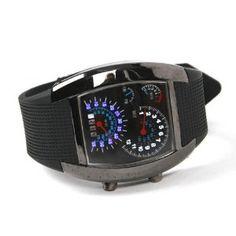 Shot-in Creative LED Watch Sector Sports Car Meter Dial Men Wrist Watch --- http://www.amazon.com/Shot--Creative-Watch-Sector-Sports/dp/B008KGBRGM/?tag=showelpla-20
