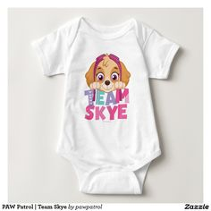 PAW Patrol | Team Skye. Puppy, dog lover. Baby, bebé. Producto disponible en tienda Zazzle. Vestuario, moda. Product available in Zazzle store. Fashion wardrobe. Regalos, Gifts. #camiseta #tshirt