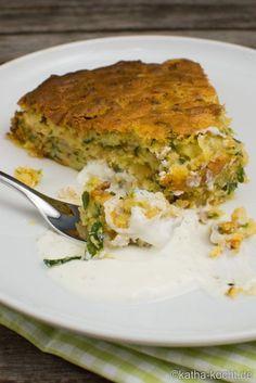 Herzhafter Zucchinikuchen mit Hackfleisch und Käse