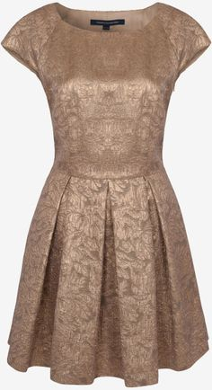 4a2dfc810fe French Connection Blousy Bloom Jacquard Dress in Gold - Lyst Beautiful  Party Dresses