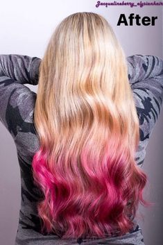 Blonde and pink ombré