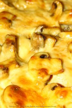 Pulpe dezosate la cuptor cu ciupercute si cascaval