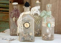 Love the cameo and laced apothecary jar on the far right. Adds a vintage touch.