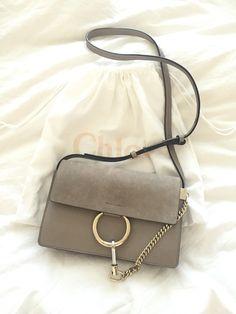 Chloe Faye bag, in Mitty grey, smaller size.